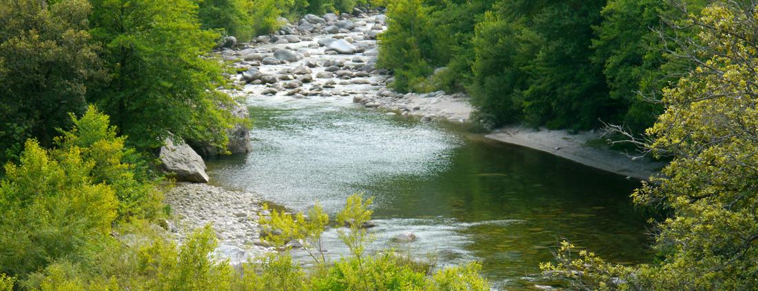 et des baignades rafraichissantes dans la rivière...